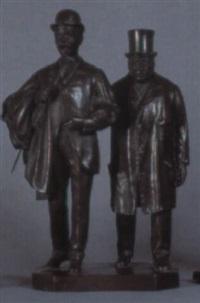 zwei spazierende männer by raimondo pereda