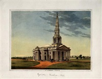 st. mary's church, vepery church....(various sizes, 6 works) by john gantz