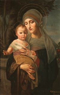 the madonna and child by maria alberta