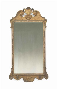 an english giltwood mirror by anonymous-british