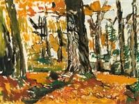 kastanienwald (im tessin) by otto niemeyer-holstein