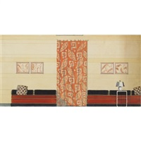 art deco wall/drapes by donald cameron routledge
