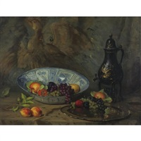still life with tôle urn and kraak bowl by henry r. rittenberg