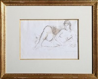 drawing 25 (nude woman) by raphael soyer