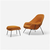 womb chair and ottoman (pair) by eero saarinen