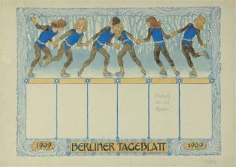 winterreigen (design for berliner tageblatt) by hugo hoppener fidus