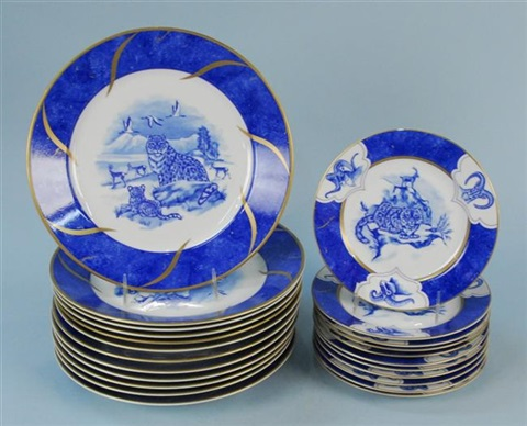 leopard lazuli dinner and dessert plates (set of 23) by lynn chase & Leopard Lazuli dinner and dessert plates set of 23 by Lynn Chase on ...