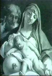 die heilige familie by balthasar augustin albrecht