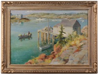 untitled (new england harbor) by adam emory albright