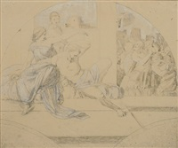 samson und delilah (draft for fresco) by edward jakob von steinle
