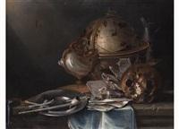 vanitas-stilleben mit globus by cornelis cruys