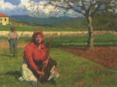 contadini nel campo by ottorino bicchi
