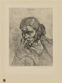 portrait tanja, pl. 6 (from 17 radierungen ludwig meidners) by ludwig meidner