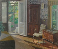 interior scene by hans hilsoe