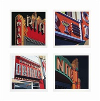 american signs : four prints (set of 4) by robert cottingham
