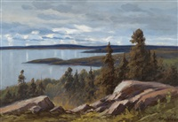 landscape with pines by arthur heickell