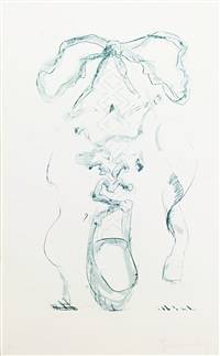 study for sneaker lace - white by claes oldenburg