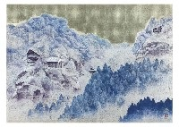 temple in the snow by masakazu hashiba