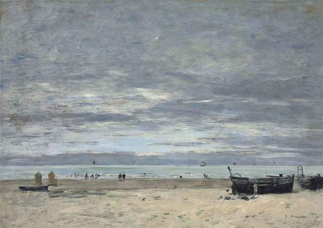 berck la plage à marée basse by eugène boudin