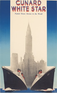 cunard/white star queen mary & queen elizabeth by a. roquin