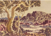 central desert landscape by otto pareroultja