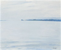 prèverenges, lac (study) by alfred rehfous