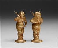 bevingade putti (+ another; pair) by nils fougstedt