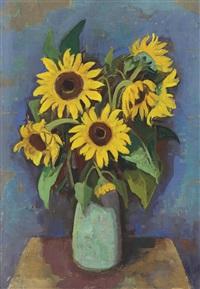 sonnenblumen in vase by karl hofer