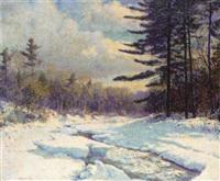 american winter landscape by vivian milner akers