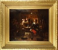 peintre dans son atelier by adolf alexander dillens