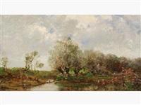 ruisseau dans la campagne by leon germain pelouse