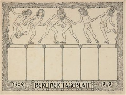 winterreigen design for berliner tageblatt by hugo hoppener fidus