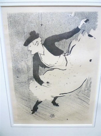 edmee lescot as a spanish dancer from the cafe concert series by henri de toulouse lautrec