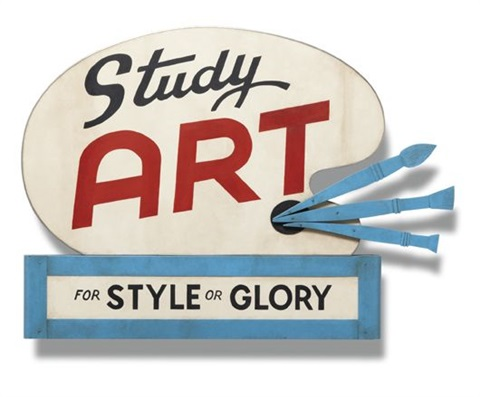 study art sign for style or glory by john waters