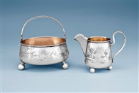 sugar bowl and creamer (pair) by johann viktor aarne