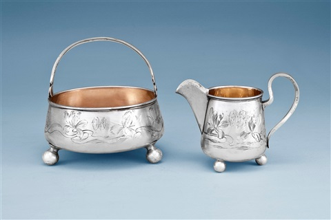 sugar bowl and creamer pair by johann viktor aarne