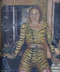 autoportrait avec peau de léopard by liliane vertessen