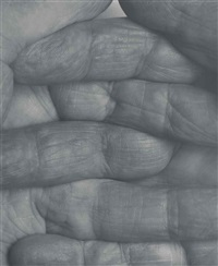 self portrait interlocking fingers, no 1 by john coplans