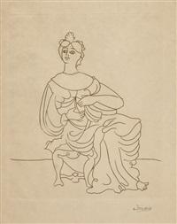 sitzende frau (aus dem zyklus le satyricon) by andré derain