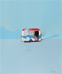 sofa (+ sad bus; 2 works) by li chaoxiong
