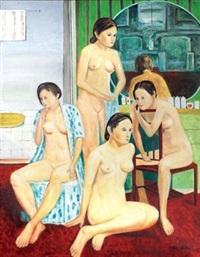裸女入浴 by li shiqiao