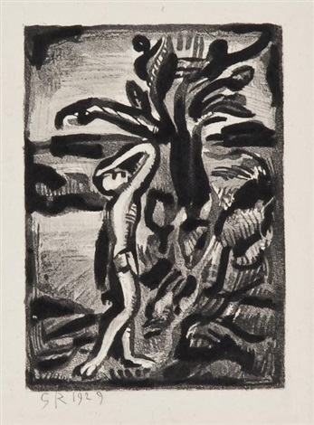 réincarnation de père ubu bk w23 works by georges rouault