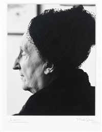 portrait in profile of edith sitwell by mark gerson