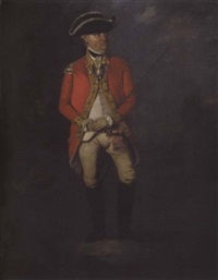 portrait of an actor in the character of an army officer by samuel de wilde
