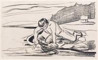 omega's død by edvard munch