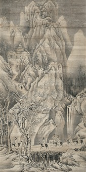 seven gentlemen passing through guan mountain by xun qin