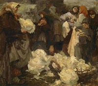 cabbage fest (after nikolai fechin) by ivan aleksandrovich krylov