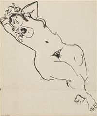 jeune femme nue allongée by henri matisse