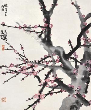 咏梅图 plum blossom by xu beihong