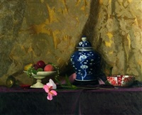 still life with japanese urn by thomas r. dunlay